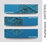 set of banner templates with... | Shutterstock .eps vector #245757451