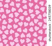 Pink Hearts Seamless Pattern....