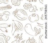 vegetables seamless pattern.... | Shutterstock .eps vector #245758561