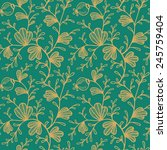 seamless color floral pattern | Shutterstock .eps vector #245759404