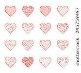 vector set of hand drawn doodle ... | Shutterstock .eps vector #245759497