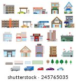 various building | Shutterstock .eps vector #245765035