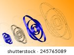 abstract drawings orbits ... | Shutterstock .eps vector #245765089