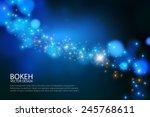 shining wave bokeh   light...   Shutterstock .eps vector #245768611