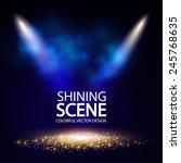 Shining Empty Scene. Vector...