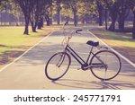 vintage bicycle in sukhothai... | Shutterstock . vector #245771791