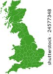 there is a map of great britain ... | Shutterstock .eps vector #24577348
