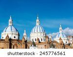 blue domes of the cathedral in... | Shutterstock . vector #245776561