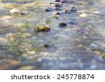 Background Of Turbulent Water...