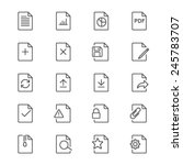 document thin icons | Shutterstock .eps vector #245783707