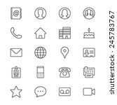 contact thin icons | Shutterstock .eps vector #245783767