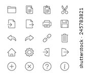 application toolbar thin icons | Shutterstock .eps vector #245783821