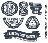 not ordinary ribbons and... | Shutterstock .eps vector #245784085