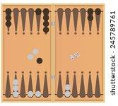 Backgammon On The Wooden Box ...