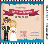 wedding invitation with pirate... | Shutterstock .eps vector #245791981
