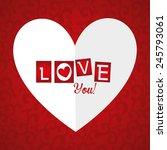 valentines day design  vector... | Shutterstock .eps vector #245793061