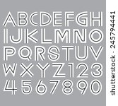 alphabet fonts and numbers... | Shutterstock .eps vector #245794441