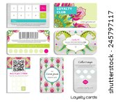 set of loyalty cards. oriental... | Shutterstock .eps vector #245797117