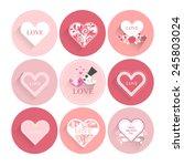valentines heart icon set....   Shutterstock .eps vector #245803024