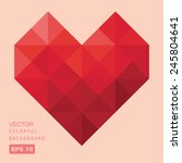vector geometric heart | Shutterstock .eps vector #245804641