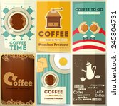 coffee posters set   collection ... | Shutterstock .eps vector #245804731