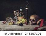 Vanitas With Skull  Pipe ...