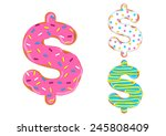 Sweet Donut Font Vector. Dolla...