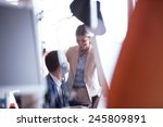 happy young business man... | Shutterstock . vector #245809891