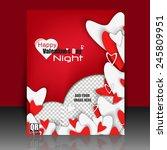 happy valentine's day love... | Shutterstock .eps vector #245809951
