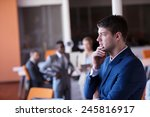 happy young business man... | Shutterstock . vector #245816917