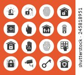 home security icons. black...   Shutterstock . vector #245818951