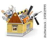vector house toolbox | Shutterstock .eps vector #245819995