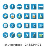 flat chemistry icons vector set