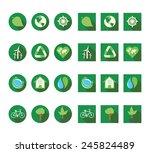 flat ecologic icons vector set