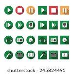 flat music icons vector set