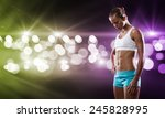 sport woman in shorts and top... | Shutterstock . vector #245828995