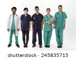 a group portrait of five multi... | Shutterstock . vector #245835715