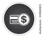 credit card design on black...