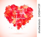 greeting card valentine's day... | Shutterstock .eps vector #245844739