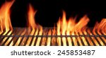 Barbecue Fire Grill Close Up ...