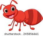 happy ant cartoon  | Shutterstock . vector #245856661