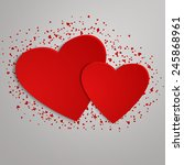 valentines day background with... | Shutterstock . vector #245868961