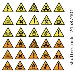 chemical hazard signs vector...   Shutterstock .eps vector #24587401