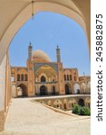 Small photo of Beautiful Agha Bozog mosque in town of Kashan, Iran