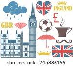 england. vector illustration....   Shutterstock .eps vector #245886199