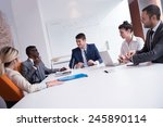 young business people group... | Shutterstock . vector #245890114