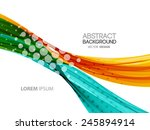 vector abstract curved lines... | Shutterstock .eps vector #245894914