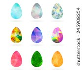 set of abstract colorful... | Shutterstock .eps vector #245908354