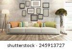 living room interior design 3d... | Shutterstock . vector #245913727
