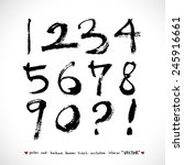 handwritten numbers    vector   ... | Shutterstock .eps vector #245916661
